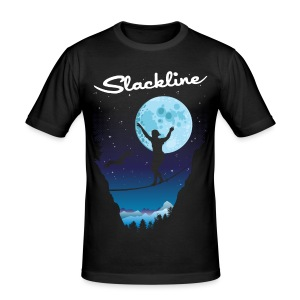 Slack line in the moonlight - Men's Slim Fit T-Shirt