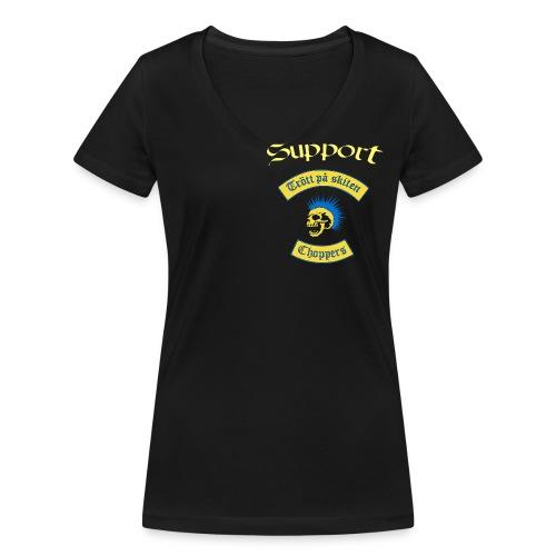 Dam v-ringad T-shirt - Ekologisk T-shirt med V-ringning dam från Stanley & Stella