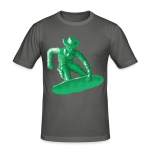 Green snowboarding toy - Men's Slim Fit T-Shirt