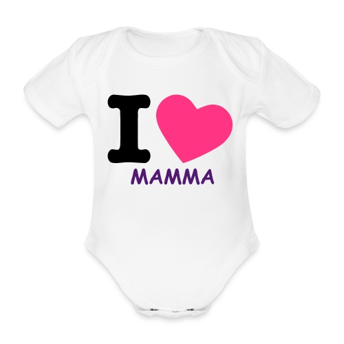 LOVE FOR MOM - Body ecologico per neonato a manica corta