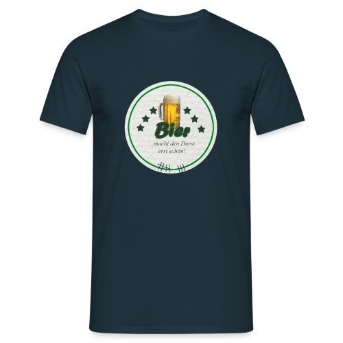 Männer Shirt Bierdeckel schöner Durst - Männer T-Shirt