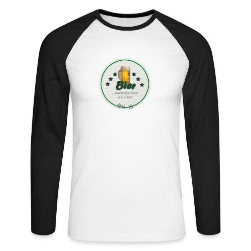 Longsleeve Bierdeckel schöner Durst - Männer Baseballshirt langarm