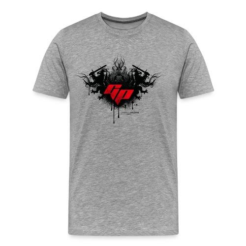 Männer Premium T-Shirt - Männer Standard grau meliert Motiv Ornament