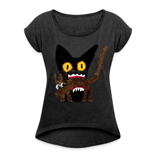 Für Dich! nen Hund - Frauen T-Shirt mit gerollten Ärmeln