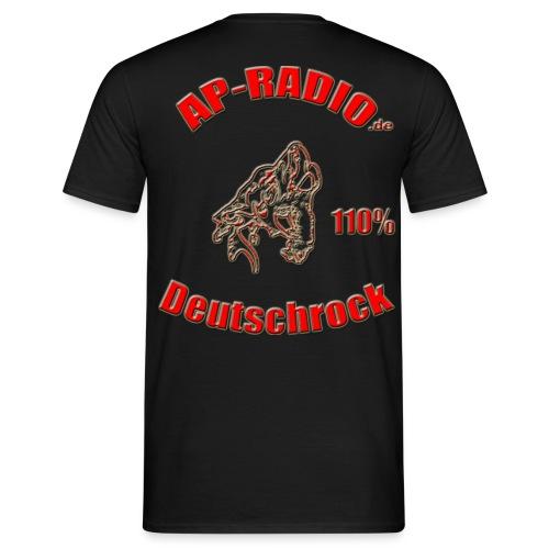Kleines Logo vorne, Großes Logo hinten - Männer T-Shirt