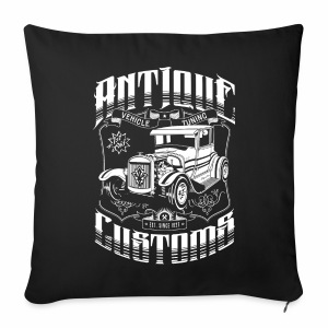 Hot Rod - Antique Customs (white) - Sofa pillow cover 44 x 44 cm