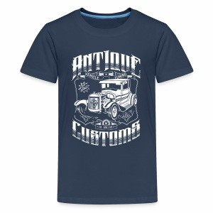 Hot Rod - Antique Customs (white) - Teenage Premium T-Shirt