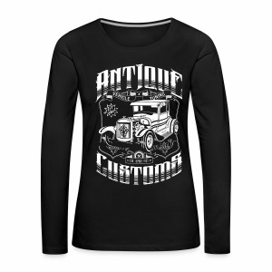 Hot Rod - Antique Customs (white) - Women's Premium Longsleeve Shirt