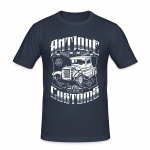 Hot Rod - Antique Customs (white) - Männer Slim Fit T-Shirt
