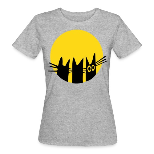 Frau Kami Katze im Mond - Frauen Bio-T-Shirt