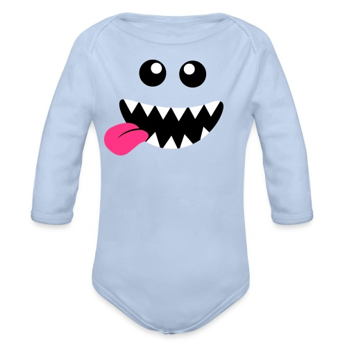 Happy Critter - Langærmet babybody, økologisk bomuld