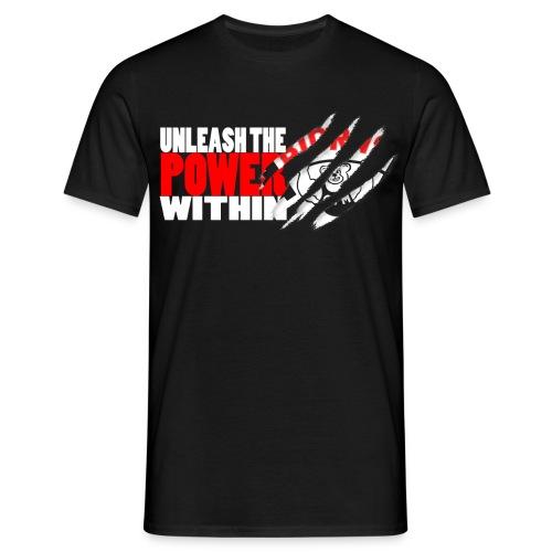 Unleash the POWER - Sort - T-skjorte for menn