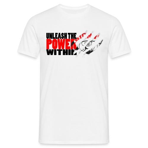 Unleash the POWER - Hvit - T-skjorte for menn