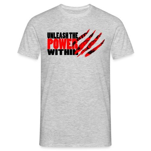 Unleash the POWER - Grå - T-skjorte for menn