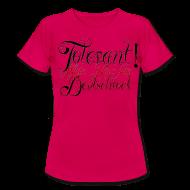 T-Shirts ~ Frauen T-Shirt ~ Tolerant! Mein Herz für Deutschrock