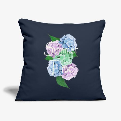 Summer Time Floral decoration by patjila - Sofa pillowcase 17,3'' x 17,3'' (45 x 45 cm)