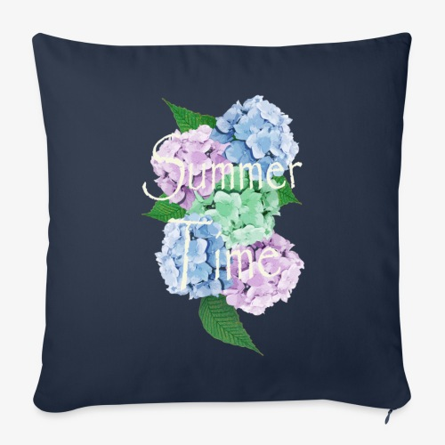 Summer Time Floral decoration by patjila - Sofa pillow cover 44 x 44 cm