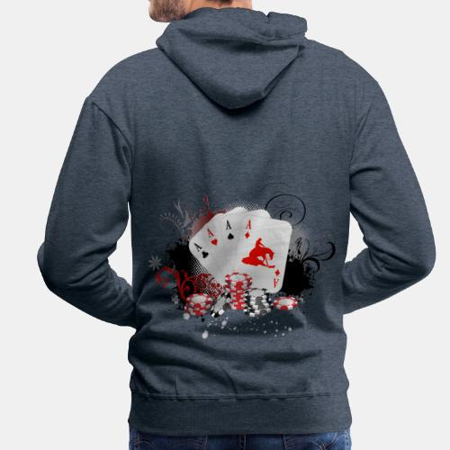 Sonderedition! Reining Poker - Männer Premium Hoodie