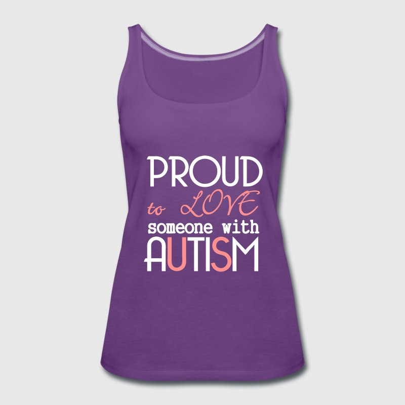 Love someone with Autism Tops - Frauen Premium Tank Top