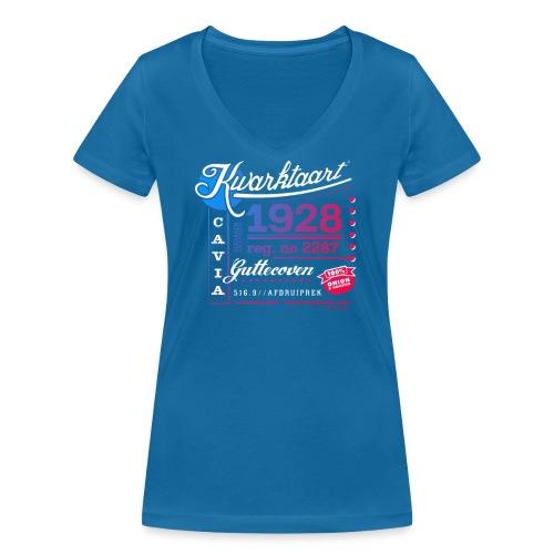 Kwarktaart vrouwen v-hals bio - Vrouwen bio T-shirt met V-hals van Stanley & Stella