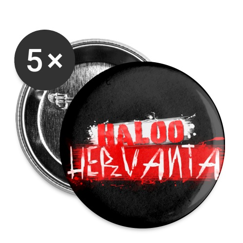 HALOO HERVANTA Rintamerkki - Rintamerkit keskikokoiset 32 mm (5kpl pakkauksessa)