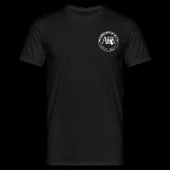 Magliette ~ Maglietta da uomo ~ t-shirt con logo AUDA e Glock (bianco per capi scuri)