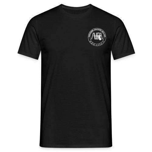 t-shirt con logo AUDA e Glock (bianco per capi scuri) - Maglietta da uomo