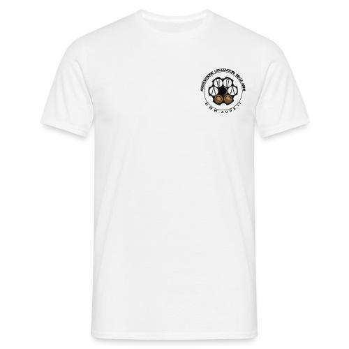 t-shirt con logo AUDA su tamburo (per capi chiari) - Maglietta da uomo