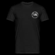 Magliette ~ Maglietta da uomo ~ t-shirt con logo auda e revolver (bianco per capi scuri)