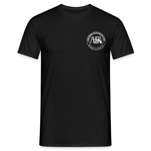 t-shirt con logo auda e revolver (bianco per capi scuri) - Maglietta da uomo