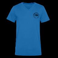 Magliette ~ Maglietta da uomo con scollo a V ~ maglietta logo auda e revolver (per capi chiari)