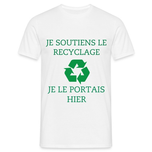 T-Shirt Recyclage - T-shirt Homme
