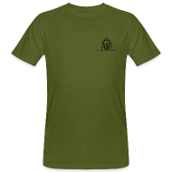Magliette ~ T-shirt ecologica da uomo ~ t-shirt ecologica da uomo con logo AUDA e AK47 (per capi chiari)