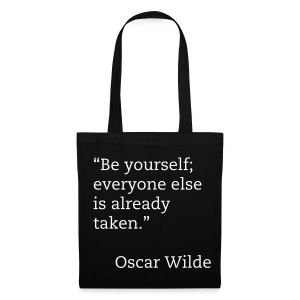 Be yourself noir - Tote Bag