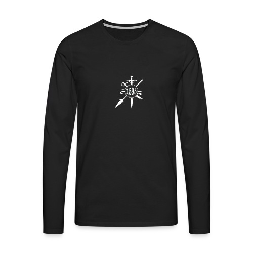 White weapons badge - Mens long-sleeved t-shirt - Men's Premium Longsleeve Shirt