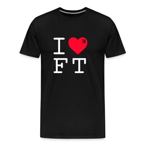 FT-Shirt I LOVE FT Herren - Männer Premium T-Shirt