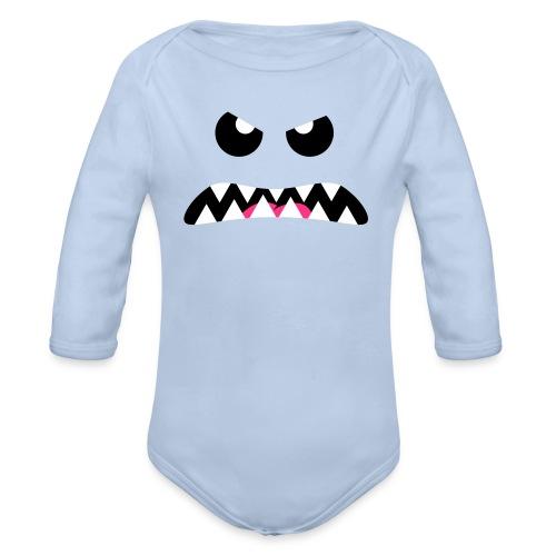 Angry Critter - Langærmet babybody, økologisk bomuld