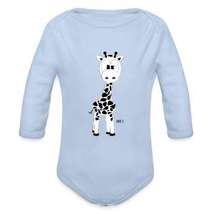 Romper-Raffe - Baby bio-rompertje met lange mouwen
