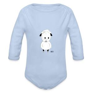 Romper-Wolle - Baby bio-rompertje met lange mouwen