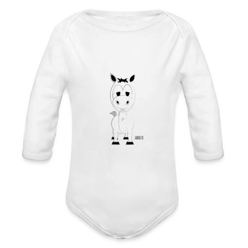 Romper-Lodewijk - Baby bio-rompertje met lange mouwen