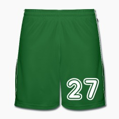 Green College Numers, College Zahlen, Nummern, 27 Trousers & Shorts
