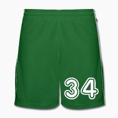 Green College Numers, College Zahlen, Nummern, 34 Trousers & Shorts