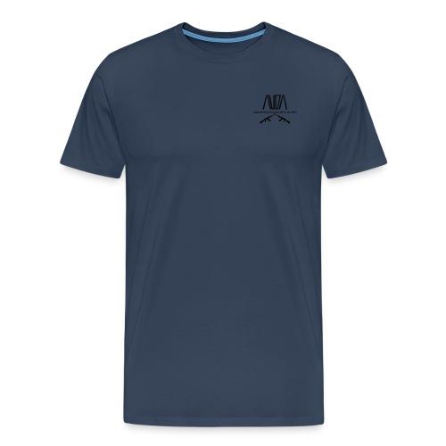 Maglietta Premium con logo AUDA e ak incrociati (per capi chiari) - Maglietta Premium da uomo