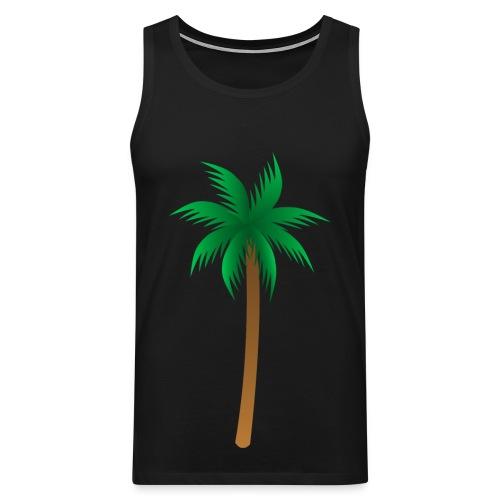 debardeur noir palmier - Débardeur Premium Homme
