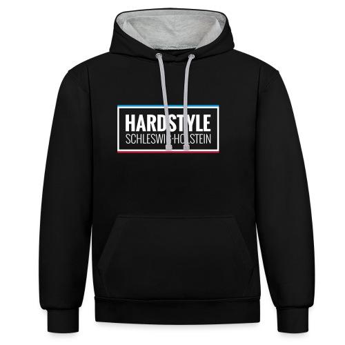 Hoody Schwarz/Grau - Kontrast-Hoodie