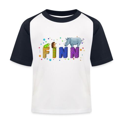 Shirt mit Namen - Kinder Baseball T-Shirt