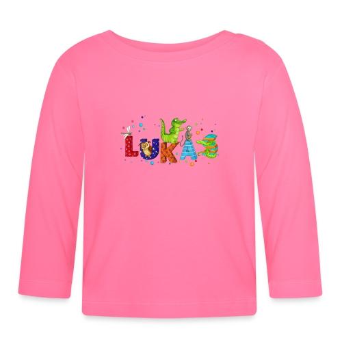 Shirt mit Namen - Baby Langarmshirt