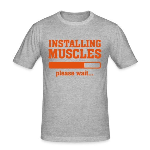 INSTALLING MUSCLES - Men's Slim Fit T-Shirt