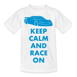 Keep Calm and Race on - Kinder T-Shirt