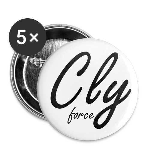 Cly Buttons - Buttons klein 25 mm (5er Pack)